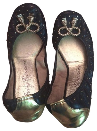 Juicy Couture Black and gold Flats