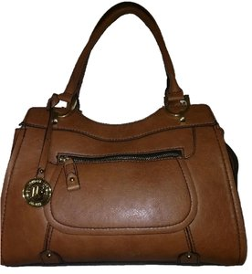 London Fog Satchel in Cognac
