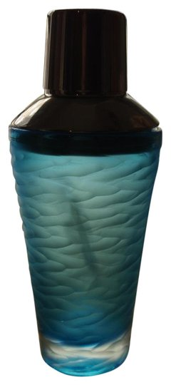 Blue Etched Glass Cocktail Shaker Barware
