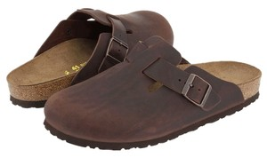 Birkenstock Clog Boston Brown Mules