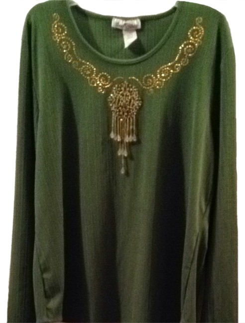 Preload https://item5.tradesy.com/images/army-green-blouse-size-22-plus-2x-1003089-0-0.jpg?width=400&height=650