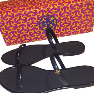 Tory Burch Navy and gold Sandals
