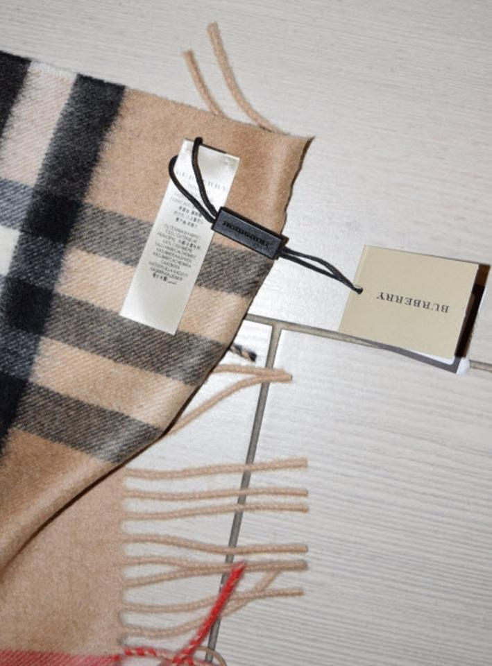 b428f207 Burberry London Giant Check Cashmere In Camel From Bloomingdales Scarf/Wrap  32% off retail