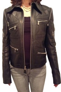 Dolce&Gabbana Leather Motorcycle Jacket