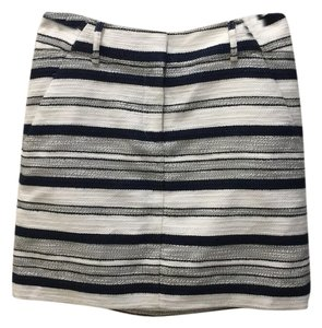 Ann Taylor LOFT Skirt Dark blue and white