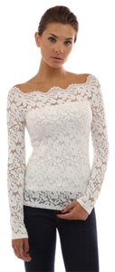 L.A. Tart Stretch Floral Lace Off-The-Shoulder Top *Many Colors* Top Black, merlot, white, teal, purple, red, navy