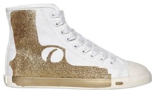 Be&D Canvas Rubber Print Glitter Gold Athletic