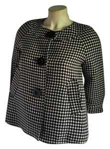 Max Studio Retro Vintage Max Spring Xs Circle Pattern Large Dot Black/White Jacket