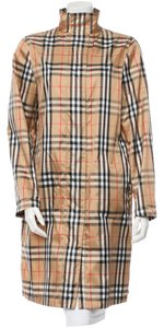 Burberry Beige Tan Black Raincoat