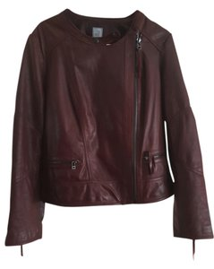 jcp Wine Leather Jacket