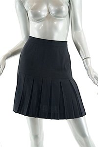 Chanel Pleated Skirt Black