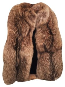 Brand New Carolina & Ocie -Brand New with Tags Authentic Fox Fur vest Brown Vest