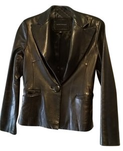 Banana Republic Leather Leather Jacket Dark Brown Blazer