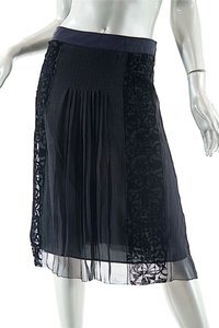 Alberta Ferretti Silk Skirt Black