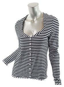 Burberry Stripe Scoop Neck Cardigan