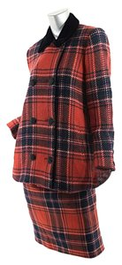 Chlo Chlo Red Plaid Skirtsuit