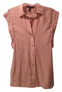 BCBGMAXAZRIA Button Down Shirt Light Pink