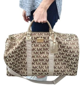 Michael Kors Duffle Gold Travel Bag