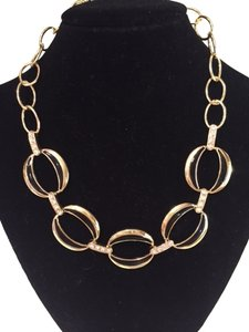 Charter Club Charter Club Gold and Black Faux Diamond Necklace