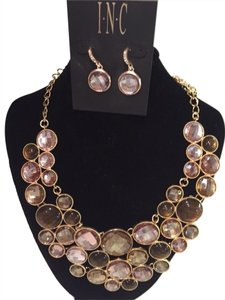INC International Concepts I.N.C. Gold, Bronze and light Purple Necklace Only