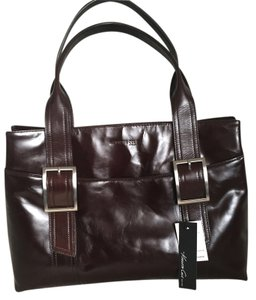 Kenneth Cole Buckle Tote in Brown