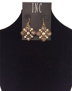 INC International Concepts I.N.C. Earrings, Matches necklace and other earrings. Faux Diamonds,