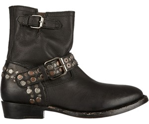 Ash Leather Distressed New In Box Vintage Studded Moto Black Boots
