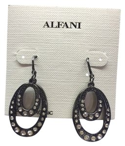 Alfani Alfani Faux Diamond and Black Earrings