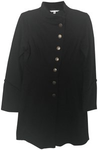 CAbi Pleated Button All Weather Cotton Trench Coat