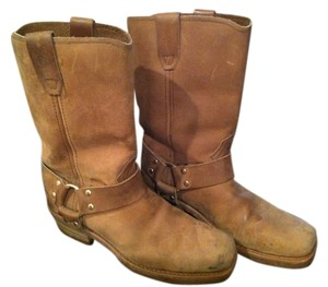 Dingo Biker Cowboy Military Light Brown Boots