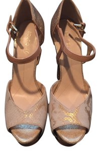 Boutique 9 Gold and white Platforms