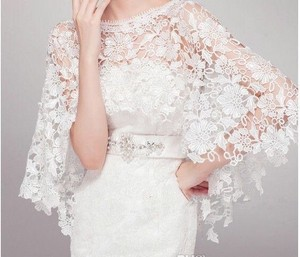 White Shawl/overlay Dress