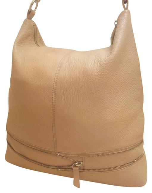 Item - Pre-owned Pop Expandable Beige Leather Hobo Bag