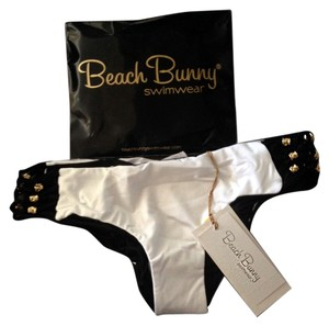 Beach Bunny Beach Bunny Reversible Black White Swimsuit Bikini Bottoms