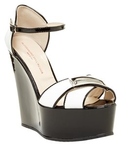 Alessandro Dell'Acqua Black/White Wedges