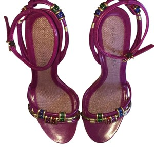 Marc Jacobs Magenta with Gold and jewel toned accents and Platforms