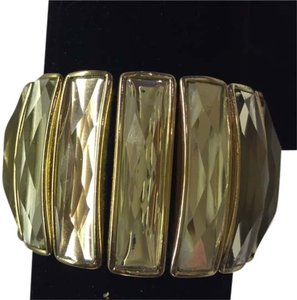 INC International Concepts INC International Concepts Gold-Tone Crystal Baguette Stretch Bracelet. Brand New.