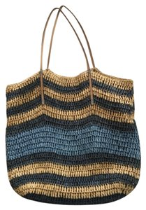 Ann Taylor LOFT Blue Beach Bag