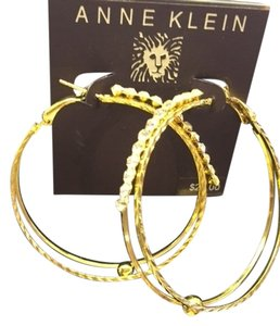 Anne Klein Anne Klein Gold with Faux Diamond Earrings