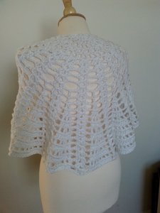 Handmade White Wedding Shawl