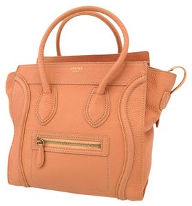 Céline Celine Leather Micro Luggage Satchel in Pink