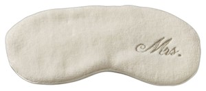 Ivory Mrs. Embroidered Eye Mask Bath Accessory