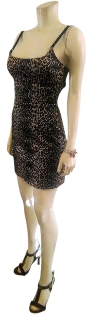 Preload https://img-static.tradesy.com/item/1003953/cache-brown-black-summer-small-animal-print-p627-above-knee-night-out-dress-size-4-s-0-0-650-650.jpg