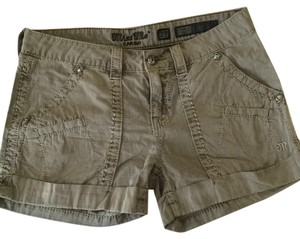 Miss Me Cargo Shorts Army Green