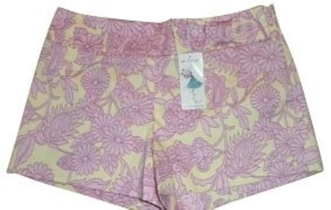 Tibi Shorts Pink and yellow