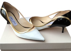 Jimmy Choo Black white gold Pumps