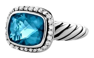 David Yurman David Yurman Noblesse Ring - Diamonds and Blue Topaz