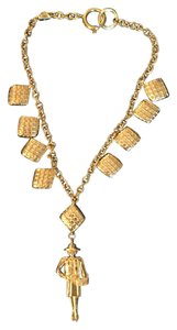 Chanel Vintage Chanel Quilted Mademoiselle Pendant Necklace