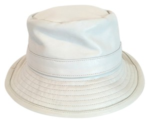 Barneys New York White Leather Hat