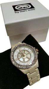 Marc Ecko Rhino by Marc Ecko Cream Matte Champagne tone Crystal Stone Watch NEW WITH TAG